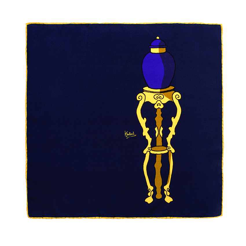 pot navy pocket handkerchief