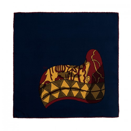 horn navy pocket handkerchief