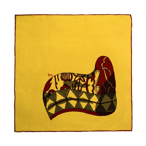 horn yellow pocket handkerchief