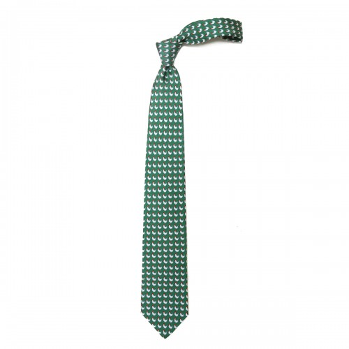 Rooster Green Tie